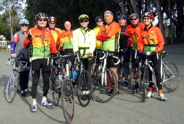 Tailwinds bike club members